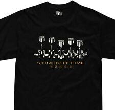 Fünf gerade motor t-shirt ur quattro audi wr mb rr turbo volvo 850  v70r rs2 rs3