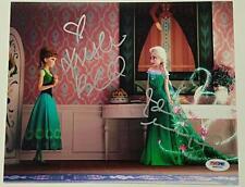 KRISTEN BELL + IDINA MENZEL Dual Signed 8x10 Photo #4 FROZEN w/ PSA/DNA COA