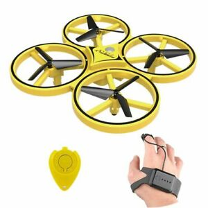 Rc Drone Toy Mini Infrared Induction Hand Control Altitude Hold 2 Controllers