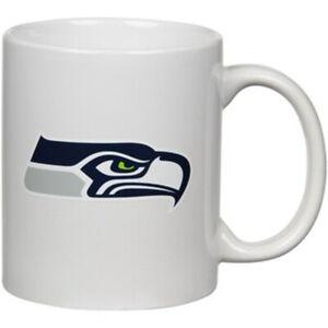 The Memory Company NFL Seattle Seahawks  Team Logo White Mug