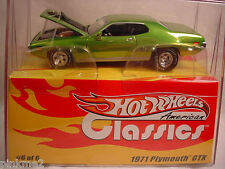 RLC Hot Wheels American Classics '71 PLYMOUTH GTX  1971☆Green☆1:43 scale☆Redline