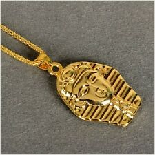 "New Last Kings PHARAOH 24K Gold Pendant Iced Out Necklace with 30"" Chain Hip Hop"