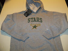 DALLAS STARS REEBOK PULLOVER HOODED SWEATSHIRT YOUTH SIZE LARGE (14-16) GRAY NWT