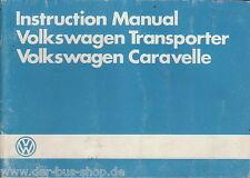 VW Bus T3 - Betriebsanleitung - Englisch - 02/1985