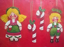 Christmas Tree Bucilla Holiday Applique Felt Ornament Kit,HANSEL & GRETEL,#2333