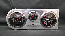 1948 1949 1950 FORD TRUCK 3 GAUGE CLUSTER BLACK
