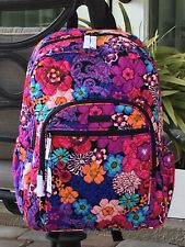 VERA BRADLEY CAMPUS BACKPACK SCHOOL COLLEGE BOOK BAG PINK $109 in FLORAL FIESTA