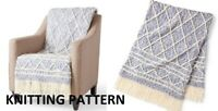 (169) Blanket Throw Copy Knitting Pattern, Gorgeous design in Super Chunky