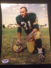 Jim Taylor HOF 1976 Packers Signed 8x10 Photo SB I II Champs ~ PSA/DNA Auth COA