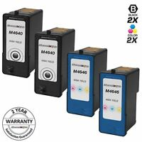 4 High Yield Black & Color Printer Ink Cartridge for Dell M4640 M4646 (Series 5)
