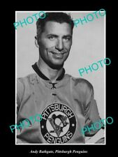 Old 6 X 4 Historic Photo Of Ice Hockey Great Andy Bathgate, Pittsburgh Penguins