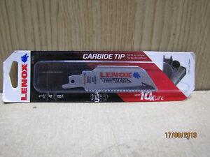 "Lenox 2014212 4"" 8TPI Lazer Carbide Tip Reciprocating Saw Blade Steel Cast Iron"