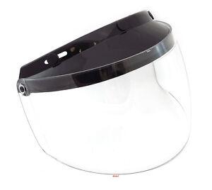GMAX - Universal 3 Snap Flip Up Motorcycle Helmet Shield - Clear - G999015