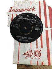"Bing Crosby ""Where The Blue Of The Night/Goodnight Sweetheart"" Brunswick 1965 7"""