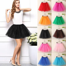Ladies Adults Ballet Tutu Mini Skirt Princess Tulle Pettiskirt Lace Skirt 40cm w