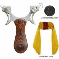1x acier inoxydable Slingshot 10 élastiques de chasse vue de catapulte extérieur
