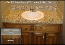Instant Decorative Adhesive Vinyl Counter Top  Fake Granite Film Roll Gold 14ft