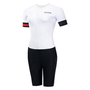 Damen Sport Ärmellos Triathlonanzug Skinsuit Bike Schwimmlauf Asiatische Größe L