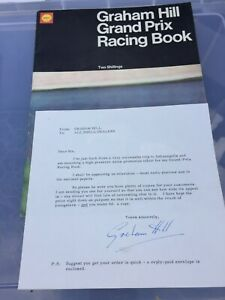 SHELL GRAHAM HILL GRAND PRIX RACING BOOK PLUS SIGNED LETTER