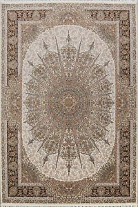 FINE Floral 8x11 Area Rug Home Decor Oriental Turkish Traditional Carpet IVORY