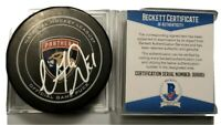 VINCENT TROCHEK SIGNED NHL OFFICIAL GAME PUCK FLORIDA PANTHERS BECKETT COA