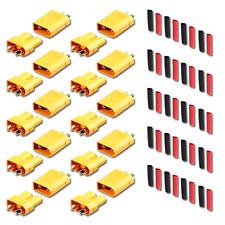 5 Paar (10 Stück) XT30 Stecker Buchse Lipo Akku RC 30A inkl. Schrumpfschlauch