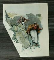 HO4) Farb Holzstich 1885-1900 O Marcus - Isle of Wight UK Undercliff Ventnor +++