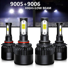 JDM ASTAR 9005+9006 Combo CSP LED Headlight Kit Low High Beam 6000K White 8000LM