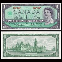 Canada 1 Dollar, 1967, P-84a, Banknotes, UNC