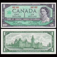 Canada 1 Dollar, 1967, P-84a, UNC