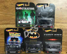 HOT WHEELS Retro ENTERTAINMENT 2017 A SET OF 5 KITT BATMOBILE 1/64 DMC55-956A