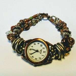 Desert Heart Watch Bacelet by Deb Sparsbott ~ Mixed Materials NOS