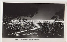 Real photo postcard Adelaide by night South Australia by C.A Pitt Ltd Payneham