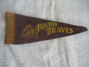 Vintage 9 inch Felt Boston Braves Pennant Major League Baseball
