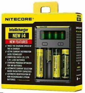 Nitecore i4 Battery Charger NEW I4 Intellicharge 18650-26650-20700-16340 UK Plug
