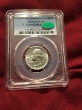 1957-D Washington Silver Quarter Misplaced MM FS-501 MS63 PCGS CAC
