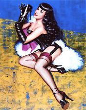 Betty Bettie Page Garter Belt Leggy 8x10 photo T2593