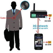 WCDMA 3G SIM GSM Button Spy Camera Hidden DVR Instant Video transmit Smartphone