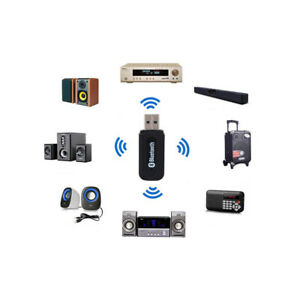 Bluetooth Stereo Audio Receiver USB Powered 3.5mm AUX Connector for Amplifier