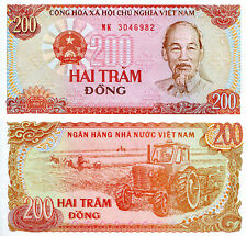 Vietnam 200 Dong Banknote World Paper Money aUnc Currency Pick p100 Ho Chi Minh