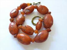 Antique Buddhist (Nan Hong) Pema Raka Beads Necklace, China - Tibet 古董西藏卡内莲珠