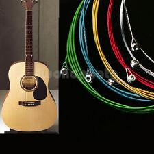 un Juego de 6 Cuerdas de Guitarra Multicolor Guitar Acústica de Buena Venta