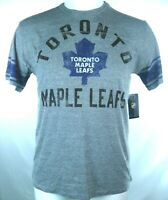 Toronto Maple Leafs NHL Men Gray Vintage Distressed Logo S/S T-Shirt