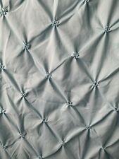 Shower Curtain Tufted, Baby Blue preowned 72�x72�