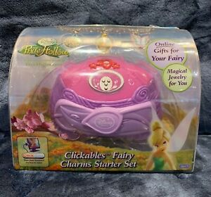 2008 Disney Clickables Fairy Charms Starter Set  Pixie Hollow NEW Sealed