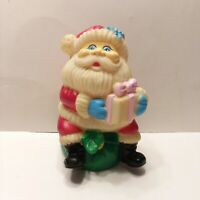 Vintage Rubber Vinyl Santa Claus Rubber Squeak Toy Christmas Holiday 5""