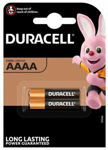 2x Duracell Batterie Alkaline AAAA LR61 25A LR8D425 MN2500 MX2500 E96 2er-Pack