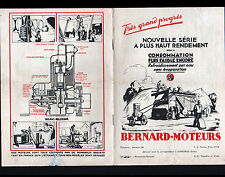 "SURESNES (92) MOTEURS ""S.A. MOTEURS BERNARD"" Catalogue en 1929"