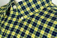 POLO RALPH LAUREN Shirt Button Down Collar Multi Color Plaid All Cotton Xl