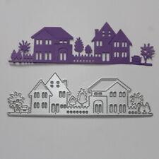 Garden Houses Stencil Die Cutter Cutting DIY Embossing Metal Template New